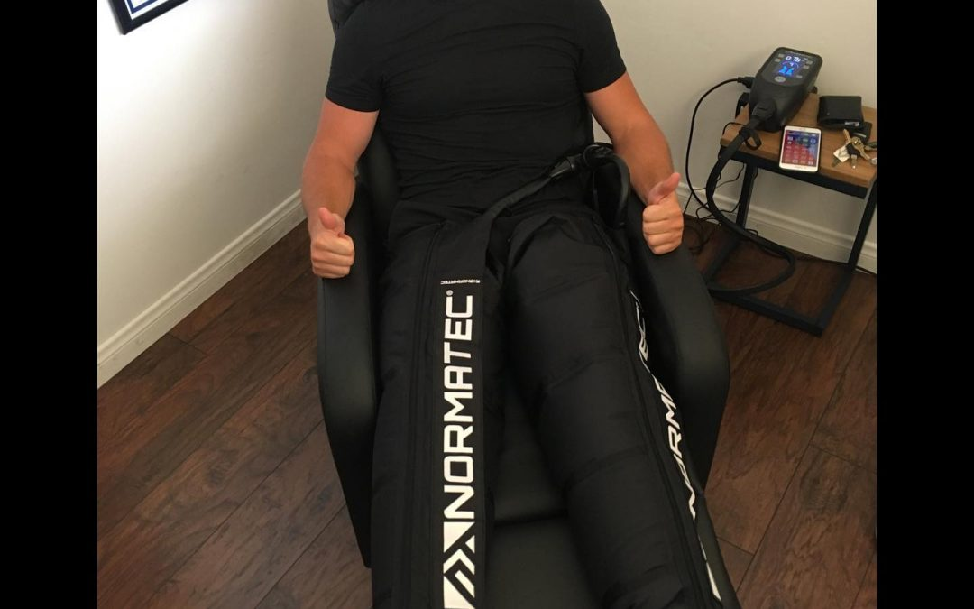 Normatech Boots Compression Therapy- Getting Cody back in the game! Schedule your appointment on the website or give the office a call at 858.866.3345.
